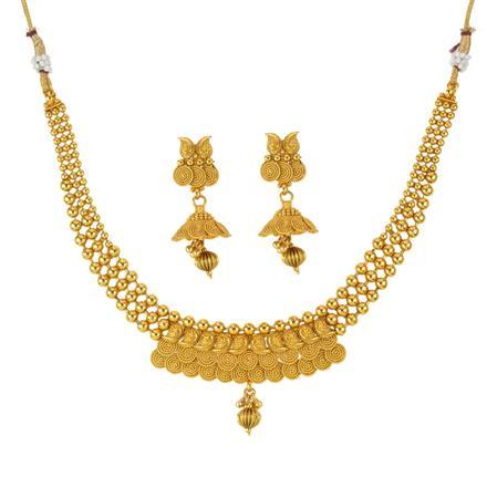 14030 Antique Plain Gold Necklace