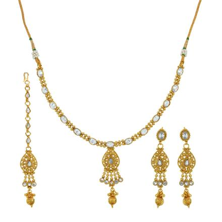 14034 Antique Delicate Necklace with gold plating