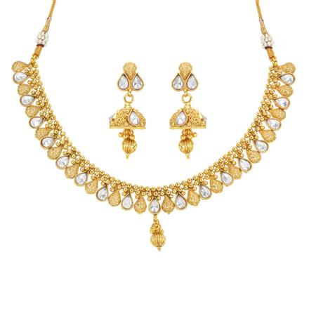 14038 Antique Delicate Necklace with gold plating