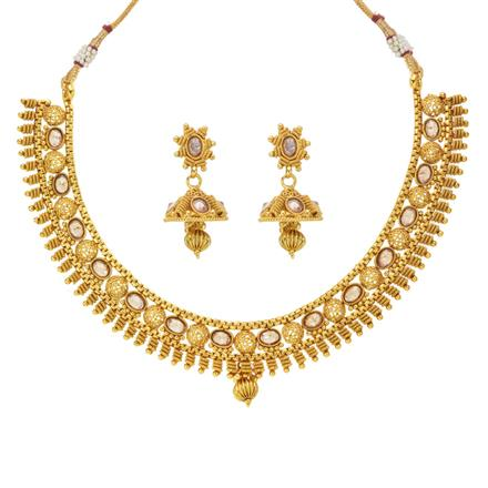 14039 Antique Classic Necklace with gold plating