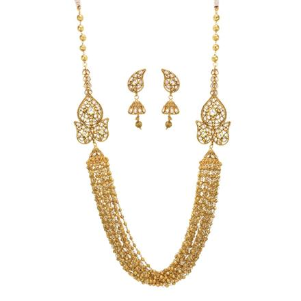 14040 Antique Side Pendant Necklace with gold plating