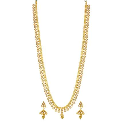 14075 Antique Long Necklace with gold plating