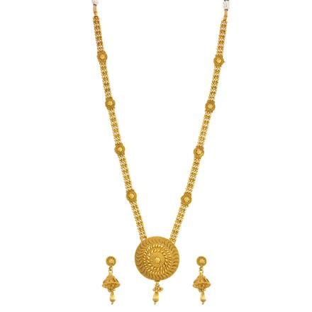 14088 Antique Long Necklace with gold plating