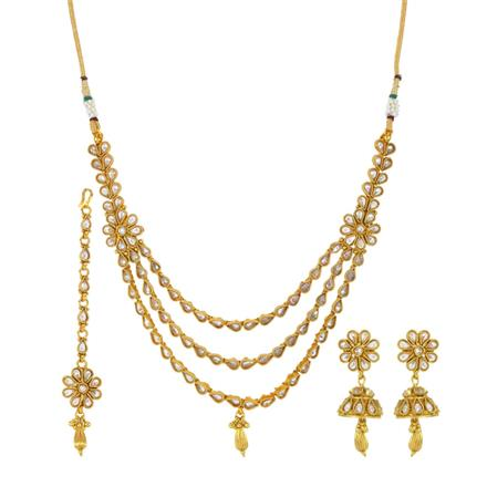 14090 Antique Classic Necklace with gold plating