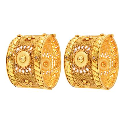 14152 Antique Openable Bangles with gold plating