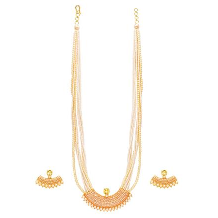 14153 Antique Mala Pendant Set with gold plating