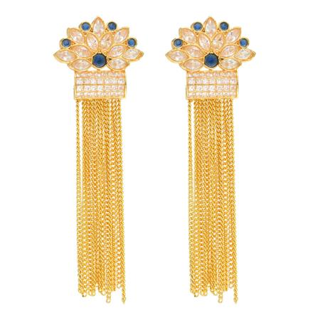 14155 Antique Long Earring with gold plating