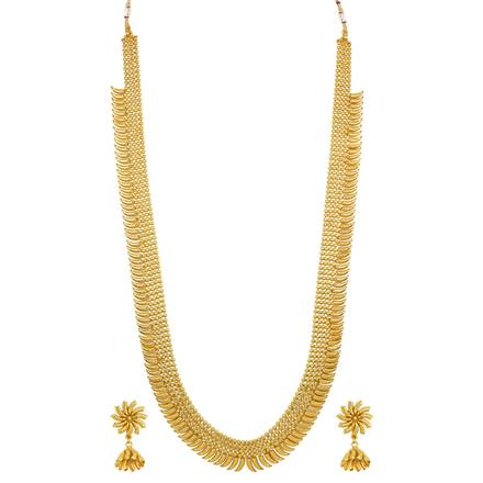 14158 Antique Long Necklace with gold plating