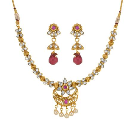 14160 Antique Delicate Necklace with gold plating