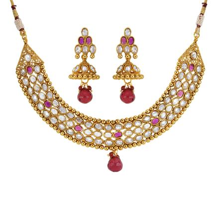 14161 Antique Classic Necklace with gold plating