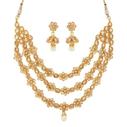 14162 Antique Classic Necklace with gold plating