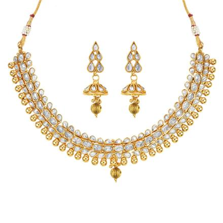 14163 Antique Classic Necklace with gold plating