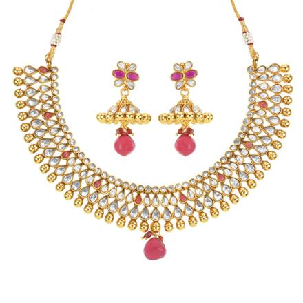 14164 Antique Classic Necklace with gold plating