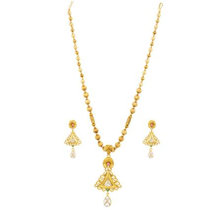 14178 Antique Classic Pendant Set with gold plating