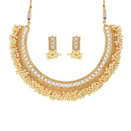 14181 Antique Classic Necklace with gold plating