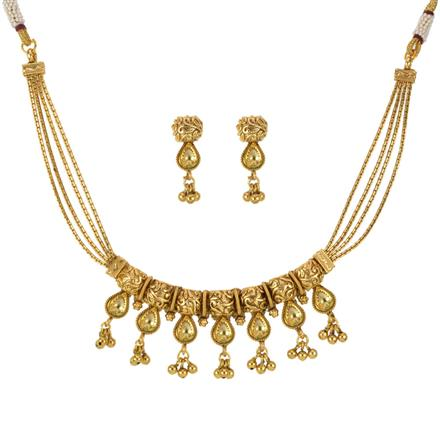 14188 Antique Classic Necklace with gold plating