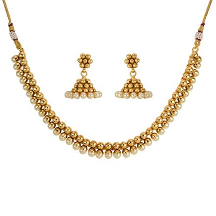 14206 Antique Delicate Necklace with gold plating