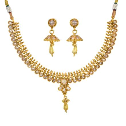 14225 Antique Delicate Necklace with gold plating