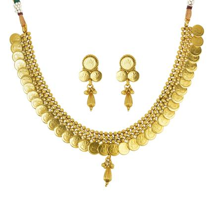 14230 Antique Temple Necklace with gold plating