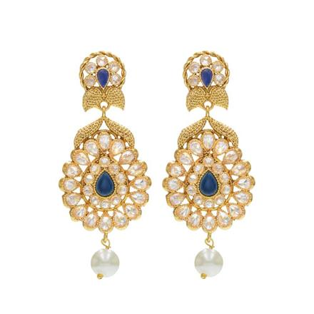 14231 Antique Delicate Earring with gold plating