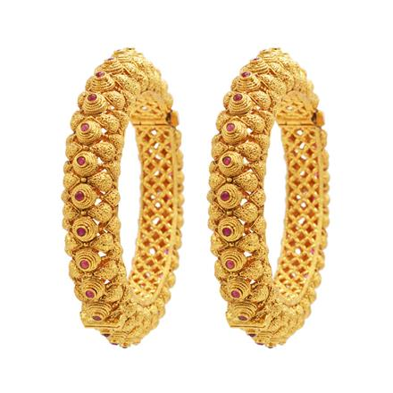 14233 Antique Openable Bangles with gold plating