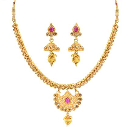 14250 Antique Delicate Necklace with gold plating