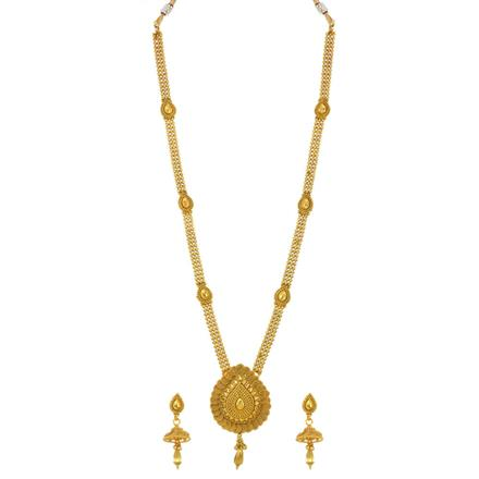 14251 Antique Long Necklace with gold plating