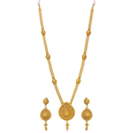 14252 Antique Long Necklace with gold plating