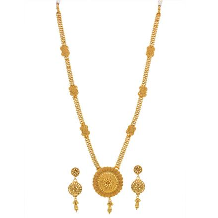 14253 Antique Long Necklace with gold plating