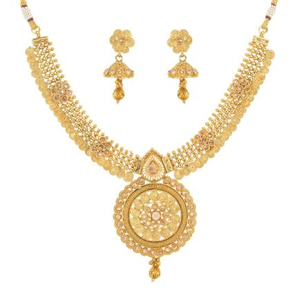 14258 Antique Classic Necklace with gold plating