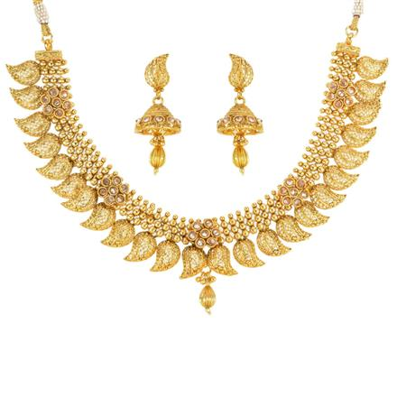 14259 Antique Classic Necklace with gold plating