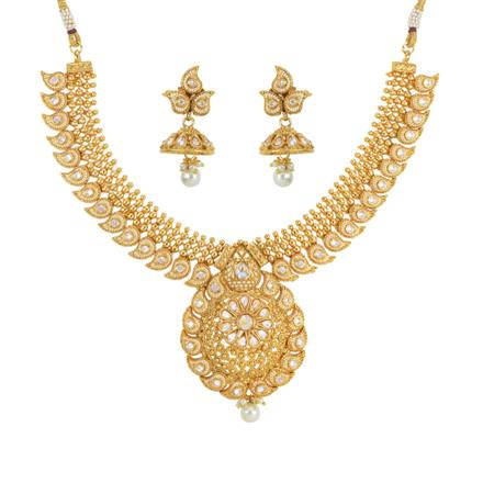 14260 Antique Classic Necklace with gold plating