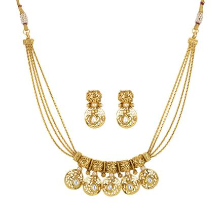 14267 Antique Classic Necklace with gold plating