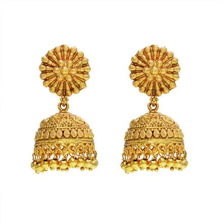 14272 Antique Jhumki with gold plating