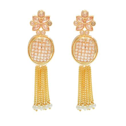 14273 Antique Long Earring with gold plating