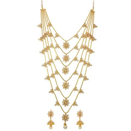 14279 Antique Long Necklace with gold plating