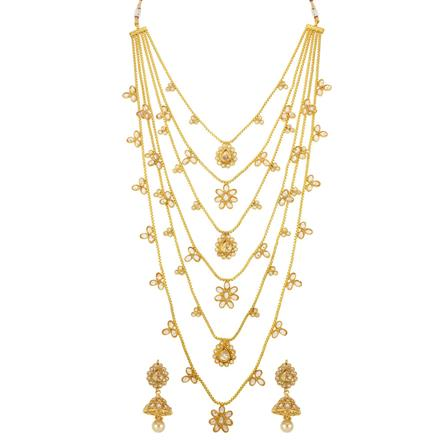 14280 Antique Long Necklace with gold plating