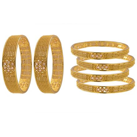 14283 Antique Classic Bangles with gold plating