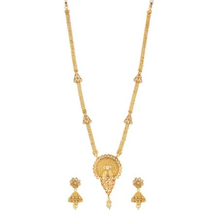 14291 Antique Long Necklace with gold plating