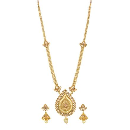 14292 Antique Long Necklace with gold plating