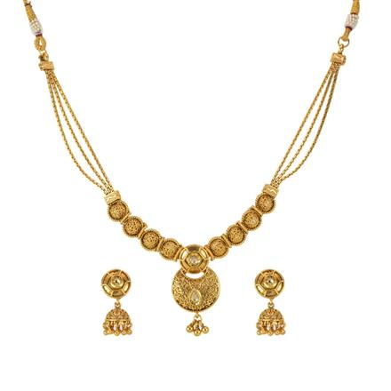 14311 Antique Delicate Necklace with gold plating