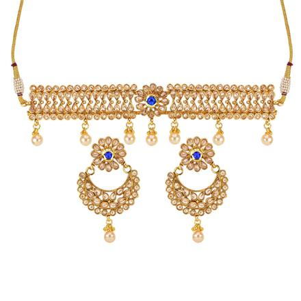 14312 Antique Choker Necklace with gold plating