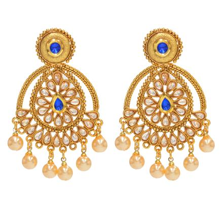 14320 Antique Classic Earring with gold plating