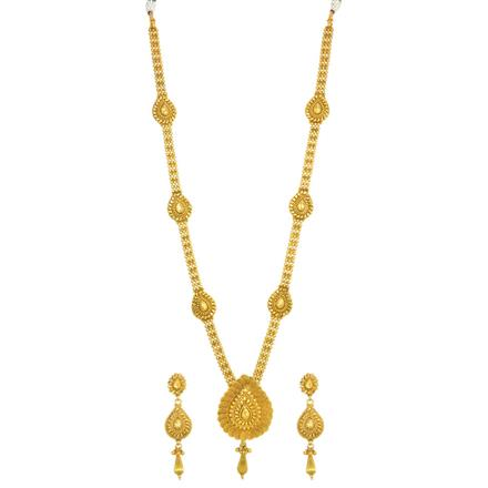 14325 Antique Long Necklace with gold plating