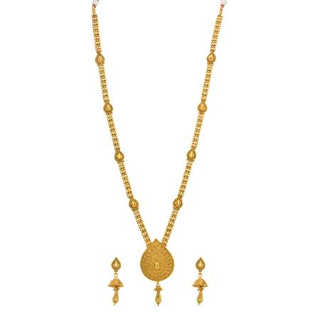 14326 Antique Long Necklace with gold plating