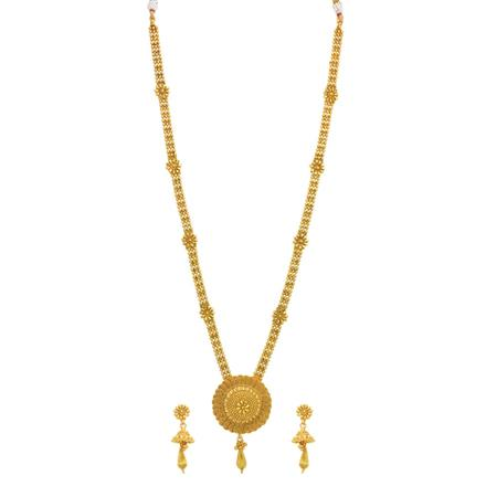 14328 Antique Long Necklace with gold plating