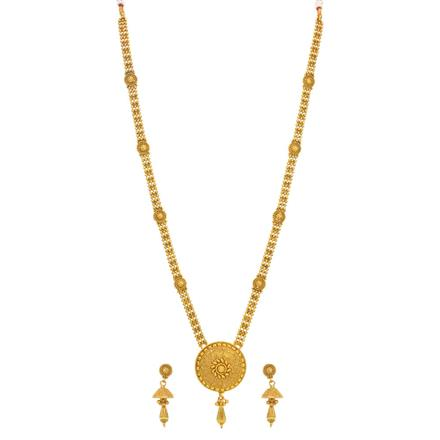 14329 Antique Long Necklace with gold plating