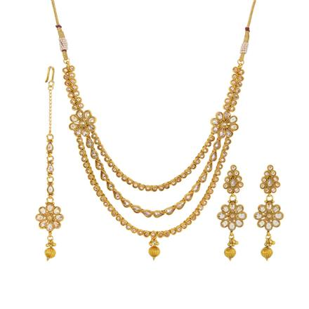 14341 Antique Classic Necklace with gold plating