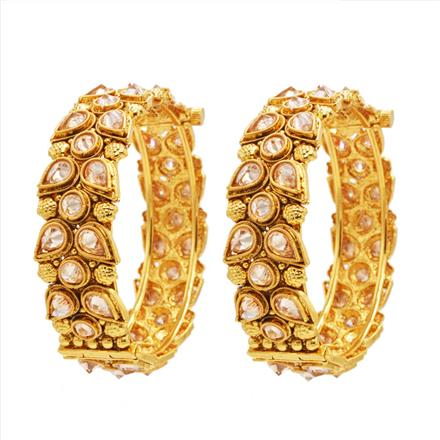 14344 Antique Openable Bangles with gold plating