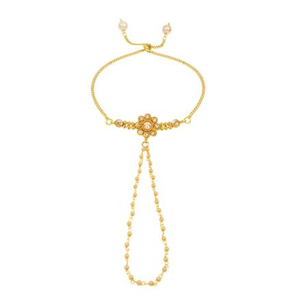 14347 Antique Delicate Hath Pan with gold plating